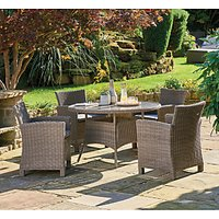 KETTLER Palma 4-Seater Round Garden Dining Table and Chairs Set