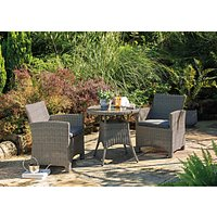 KETTLER Palma 2-Seater Round Garden Bistro Table and Chairs Set