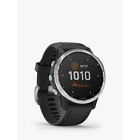 Garmin fēnix 6S Solar, Solar-Powered Fitness Smart Watch, Black/Silver