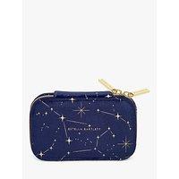 shop for Estella Bartlett Star Cosmic Print Jewellery Box, Navy/Gold at Shopo