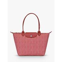 shop for Longchamp Le Pliage Microknit Shoulder Bag, Antique Pink at Shopo