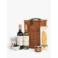John Lewis and Partners Wine Duo and Nibbles Christmas Hamper