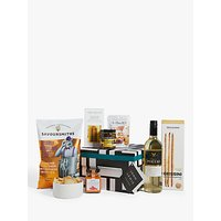 John Lewis and Partners White Wine and Nibbles Hamper