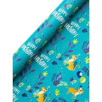 Jack & Lily Jungle Birthday Wrapping Paper, 3m