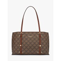 shop for DKNY Bo Logo East West Tote Bag, Bark/Caramel at Shopo
