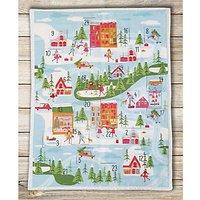 Visage Textiles Christmas Town Advent Calendar Fabric Panel