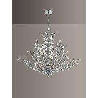 Där Cordelia Crystal Chandelier Ceiling Light, Clear/Polished Chrome