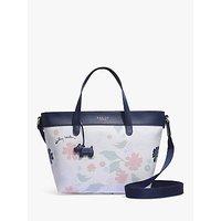 shop for Radley Painterly Floral Medium Multiway Grab Bag, White/Multi at Shopo