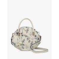 shop for Radley Royal Ascot Leather Printed Small Grab Bag, Chalk at Shopo
