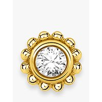 shop for THOMAS SABO Cubic Zirconia Single Flower Stud Earring, Gold at Shopo