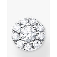 shop for THOMAS SABO Cubic Zirconia Single Round Flower Stud Earring, Silver at Shopo