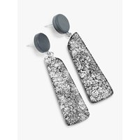 shop for One Button Wooden Drop Earrings, Grey at Shopo