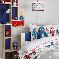 little home at John Lewis Robots Duvet Cover and Pillowcase Set, Single