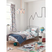 little home at John Lewis City Reversible Duvet Cover and Pillowcase Set, Single, Multi