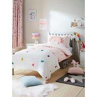 little home at John Lewis Magical Unicorn Reversible Duvet Cover and Pillowcase Set, Single, Pink