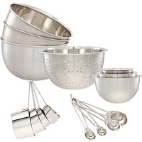 John Lewis Stainless Steel Kitchen Essentials Set, 15 Piece