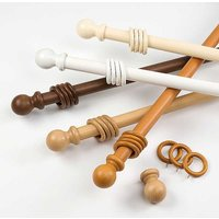 Kaleidoscope 28mm Wood Curtain Poles