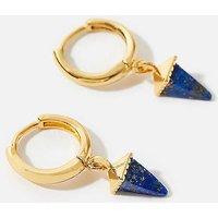Accessorize Healing Stone Pyramid Hoop Earring Lap.