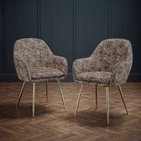 Amalfi Pair of Leopard Dining Chairs.