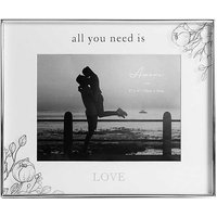 Amore by Juliana All You Need is Love 8 x 6 inch Floral Photo Frame.