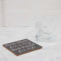 Amore by Juliana Best Man Thank You Whisky Glass & Coaster Gift Set.