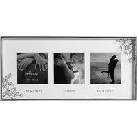 Amore by Juliana 'Engagement, Wedding & Honeymoon' 3 x 3 inch Aperture Photo Frame.