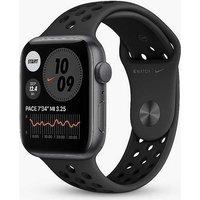 Apple Watch Nike SE GPS, 44mm Space Grey Aluminium Case with Anthracite/Black Nike Sport Band - Regular.