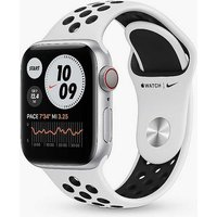 Apple Watch Nike Series 6 GPS, 40mm Silver Aluminium Case with Pure Platinum/Black Nike Sport Band - Regular.