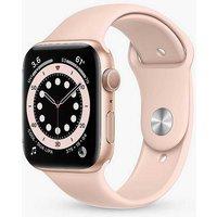 Apple Watch Series 6 GPS, 40mm Gold Aluminium Case with Pink Sand Sport Band - Regular.