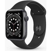 Apple Watch Series 6 GPS, 40mm Space Grey Aluminium Case with Black Sport Band - Regular.
