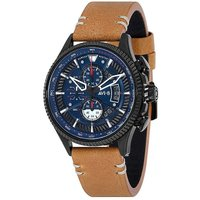 AVI-8 Men's Hawker Hunter Watch with Tan Leather Strap.