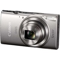Canon IXUS 285 HS Digital Camera, Full HD 1080p, 20.2MP, 12x Optical Zoom, 24x Zoom Plus, 3in LCD Screen - Silver.