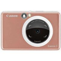 Canon Zoemini S Pocket Size 2-in-1 Instant Camera Printer Phone App Rose Gold.