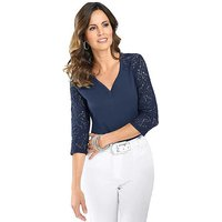 Creation L Lace Sleeve Top