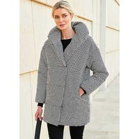 Dogtooth Quilted Coat.