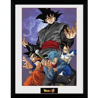 Dragonball Super Future Group Framed Print.