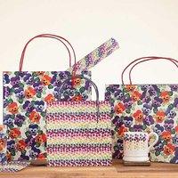 Emma Bridgewater Set of 3 Purple Pansy Gift Bags.