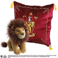 Harry Potter Gryffindor House Crest Cushion & Lion Mascot Plush Soft Toy.