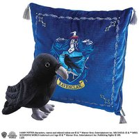 Harry Potter Ravenclaw House Crest Cushion & Raven Mascot Plush Soft Toy.