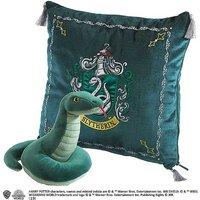 Harry Potter Slytherin House Crest Cushion & Snake Mascot Plush Soft Toy.