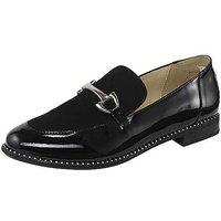 Heine Glossy Slip-On Flat Stud Shoes.