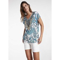 Heine Short Sleeve Patterned Top with Rhinestone Detail.