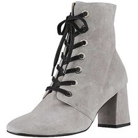 Heine Suede Lace-Up Boots.