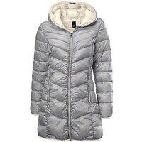 Heine Zip Pocket Quilted Coat with Hood
