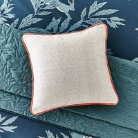 Joules Country Leaf Linen Cushion.
