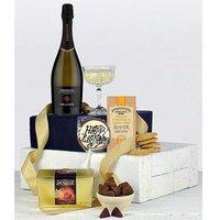 Luxury Happy Birthday Food Hamper in a Black Gift Box.