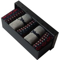 Men's Pack of 5 Wild Stag Design Socks in a Gift Box.
