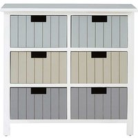 Kaleidoscope New England Bathroom 6 Drawer Chest