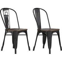 Pair Fusion Metal Dining Chairs.