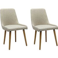 Pair of Capri Upholstered Dining Chairs.
